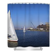 Locust Pt Sailing Shower Curtain