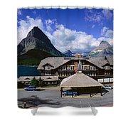 Lodge At Many Glacier, Glacier National Shower Curtain