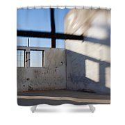Loft For Rent  Burnt Out Building Or Wharehouse Shower Curtain