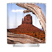 Log And Mitten Shower Curtain