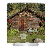 Log Cabin Kantishna, Alaska, Mnt Shower Curtain