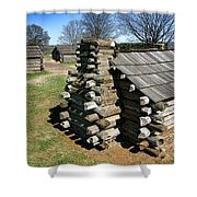 Log Cabins At Valley Forge Shower Curtain