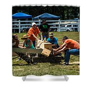 Log Cutting Competition Shower Curtain