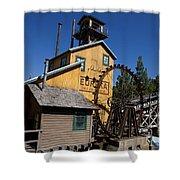 Log Flume Ride Disneyland Shower Curtain