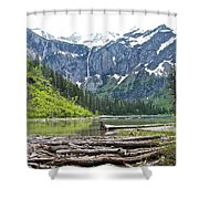 Log Jam In Avalanche Lake In Glacier Np-mt   Shower Curtain