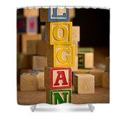 Logan - Alphabet Blocks Shower Curtain