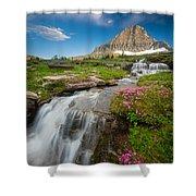 Logan Pass Cascades Shower Curtain