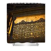 Loge Of The Sultan In Hagia Sophia  Shower Curtain