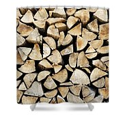 Logs Background Shower Curtain