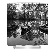 Loire River Boats Shower Curtain