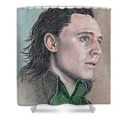 Loki From The Avengers Shower Curtain