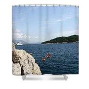 Lokrum From  Buza Shower Curtain