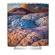 Lollipop Sunset Shower Curtain by Inge Johnsson