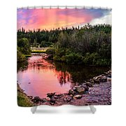 Lolo Hot Springs Creek Shower Curtain