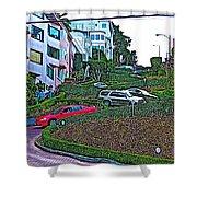 Lombard Street In San Francisco-california  Shower Curtain