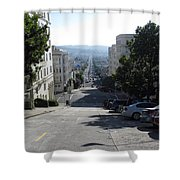 Lombard Street. San Francisco 2010 Shower Curtain