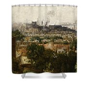 London And The Thames From Greenwich Shower Curtain by John Auld