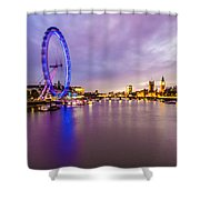 London At Night Shower Curtain