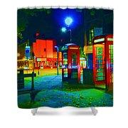 London At Night Shower Curtain