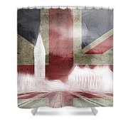 London Big Ben Abstract Shower Curtain