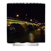 London Bridge Night Shower Curtain