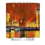 London By Night Shower Curtain