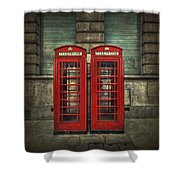London Calling Shower Curtain by Evelina Kremsdorf
