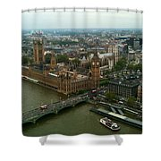 London England From The London Eye Shower Curtain