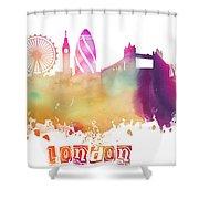 London England Skyline Pastel Shower Curtain