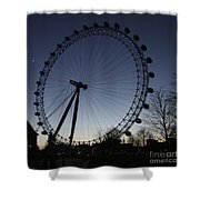 London Eye And New Moon Shower Curtain