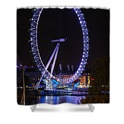 London Eye By Night Shower Curtain