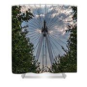 London Eye Vertical Panorama Shower Curtain
