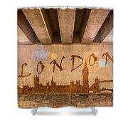 London Graffiti Skyline Shower Curtain