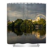 London - Illuminated And Reflected Shower Curtain