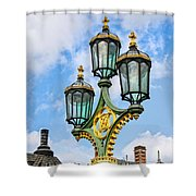 London Lamp Post Shower Curtain