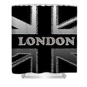 London Modern Union Jack Flag Shower Curtain