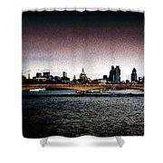 London Over The Waterloo Bridge Shower Curtain