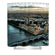 London - Palace Of Westminster Shower Curtain