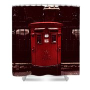 London Post Box Shower Curtain
