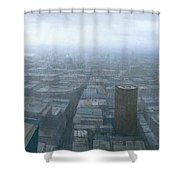 London Skyline Cityscape Shower Curtain