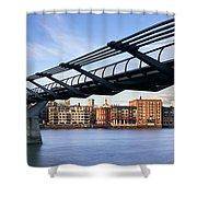 Millennium Bridge London 1 Shower Curtain