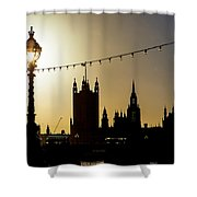 London South Bank Silhouette Shower Curtain