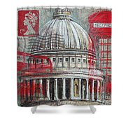 London St Paul's Dome Shower Curtain