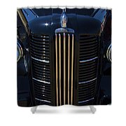 London Taxi Austin Fx3 1950's Era Shower Curtain