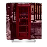 London Telephone Shower Curtain