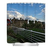 London Underground And The Tower Of London Shower Curtain