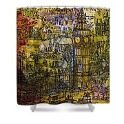 London, Westminster Pen & Ink With Wc On Paper Shower Curtain
