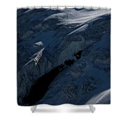 Lone Alpinist Silhouetted On Heavily Shower Curtain