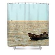 Lone Canoe Shower Curtain