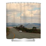 Lone Car Shower Curtain